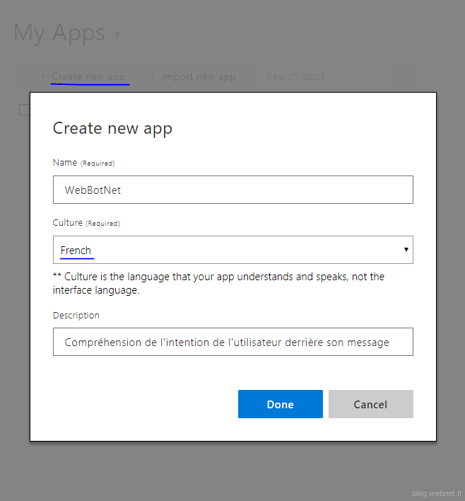 Create my apps